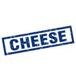 square grunge blue cheese stamp vector image vector image