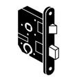 standard door lock icon simple style vector image vector image