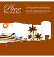 summer background through a hole in a paper vector image vector image