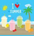 summer sea beach cartoon holiday vacation vector image vector image