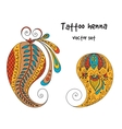 tattoo henna element vector image vector image
