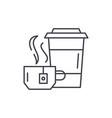 tea party line icon concept tea party vector image