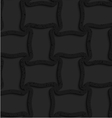 Textured black plastic spool shape grid vector image vector image