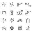 thin line icons - airport vector image