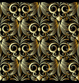 vintage gold greek style flowers seamless pattern vector image vector image