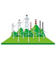 windmills and power lines vector image
