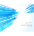 Abstract blue lines light business background vector image