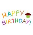 Happy Birthday Greeting Card - vector image