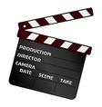movie clapper vector image