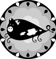 funny Chinese horoscope pig vector image