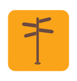 sign post icon vector image