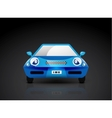 Blue sports car icon - front view vector image