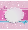 pink card vector image