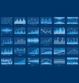 business data financial charts blue banner vector image