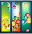 vitamins complex banners vector image
