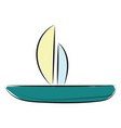a fishing boat or color vector image vector image