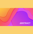 abstract background with wave layered paper cut vector image vector image
