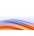 abstract blue orange back vector image vector image