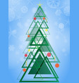 abstract geometric green christmas tree triangle vector image vector image
