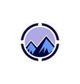 abstract mountain concept logo icon vector image vector image