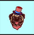 american bulldog gentleman animal with hat vector image