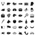 animal dog icons set simple style vector image vector image