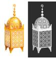 antique forged arabian lantern vector image