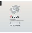 App development block website template vector image vector image