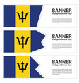 barbados flag banners collection independence day vector image vector image
