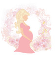 beautiful pregnant girl card vector image