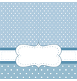 Blue card or invitation with white polka dots vector image vector image