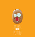 brown potato cartoon character isolated on vector image