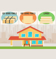 building materials for house construction vector image vector image
