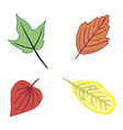colorful cartoon autumn leaves vector image vector image