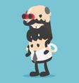 concept boss businessman piggyback ride take vector image vector image