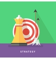 Concept for business strategy and mission vector image vector image