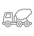 concrete mixer truck thin line icon transport vector image vector image