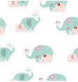 cute elephants pattern vector image vector image
