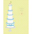 Cute wedding invitation card with a dots backgroun vector image vector image