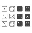 dice icon set symbol vector image vector image