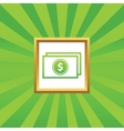 Dollar bill picture icon vector image vector image