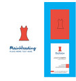 dress creative logo and business card vertical vector image