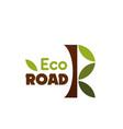 eco road label vector image vector image