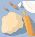 eggs and flour pastry ingredients vector image vector image