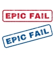 Epic Fail Rubber Stamps vector image vector image