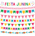 festa junina brazil june party banners set vector image