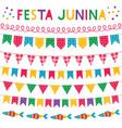 festa junina brazil june party banners set vector image vector image