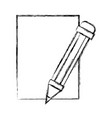 figure cardboard object with pencil utensil design vector image vector image