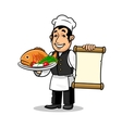 Fish restaurant Chef Menu card template vector image vector image