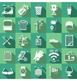 Flat icons for golf vector image vector image
